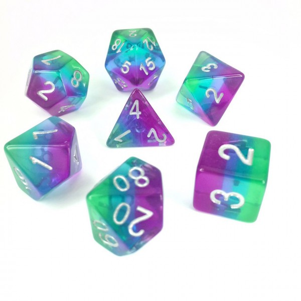 Aurora Dice Set D20 Poly Dice set - PURPLE GEM (CHN)