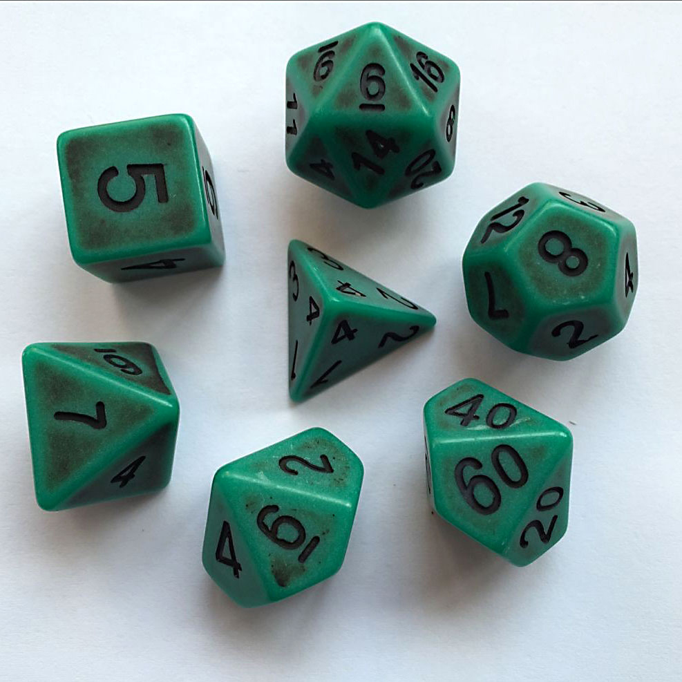 Ancient Dice Set D20 Poly Dice set - VERDIGRIZ (CHN)