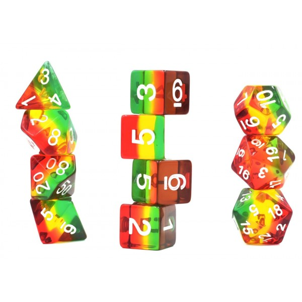 Aurora 11 Dice Poly Set  - RASTA 11 GEM (CHN)