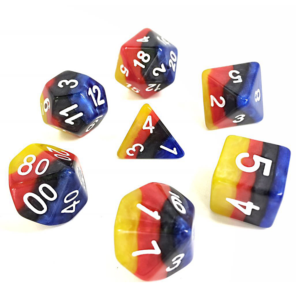 Rainbow Dice Set D20 Poly Dice set - BURNING CLOUD (CHN)